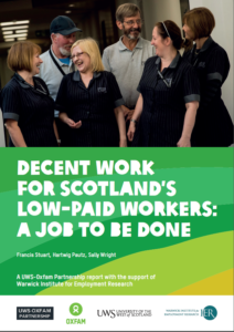 Decent Work Low Paid Workers final report cover