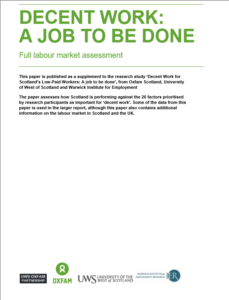 Decent Work: a job to be done. The full labour market assessment
