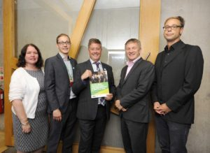 Decent Work Report Launch Event, Scottish Parliament, 07/09/2016: From left are: Dr Sally Wright (Senior Research Fellow at Warwick University), Francis Stuart (Oxfam Scotland's Research and Policy Adviser), Keith Brown MSP (Cabinet Secretary for the Economy, Jobs and Fair Work), Ivan McKee MSP (event sponsor) and Dr Hartwig Pautz ( Lecturer in Social Sciences at the University of the West of Scotland). Photography for Oxfam Scotland from: Colin Hattersley Photography - colinhattersley@btinternet.com - www.colinhattersley.com - 07974 957 388